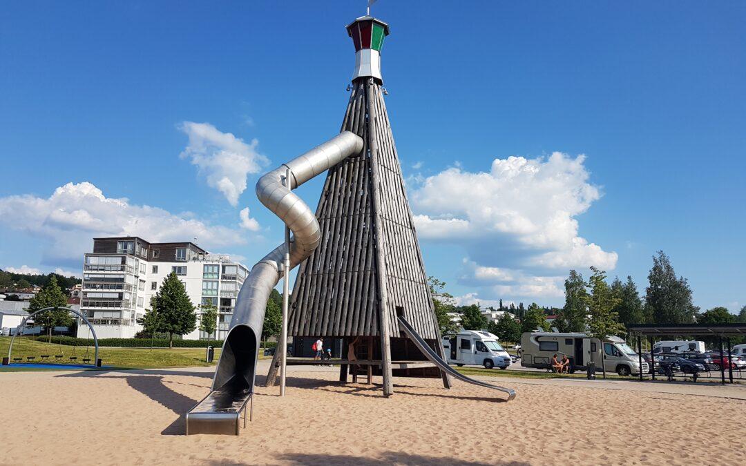Bad och lek i Ulricehamn